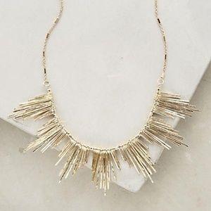 Anthropologie Fringed Gold Solelil Necklace